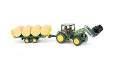 Bruder 01634 - John Deere 6920 Traktor mit Frontlader und Ballentransporter