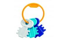 Chicco - Schlüsselbeißring, blau
