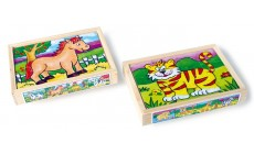 Holz Puzzle Box - Tiere