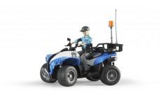 Bruder bworld 63010 - Polizei-Quad mit Polizistin