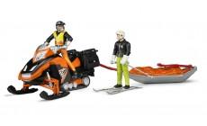 Bruder 63100 - Snowmobil und Akia Rettungsschlitten