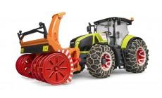 Bruder 03017 - Traktor Claas Axion 950 mit Schneeketten und Schneefräse