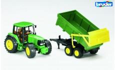 Bruder 02058 - John Deere 6920 Traktor mit Wannenkippanhänger