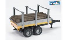 Bruder 02213 - Holzanhänger mit 3 Baumstämmen