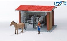 Bruder bworld 62520 - Reitstall mit Figur und Pferd