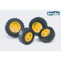Bruder 03314 (03304) - Traktor Zwillingsbereifung mit gelben Felgen, Premium-Pro