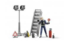 Bruder bworld 62700 - Figurenset Feuerwehrmann mit Atemschutzausrüstung