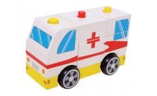 Holz Krankenwagen - Rotes Kreuz