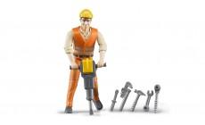 Bruder bworld 60020 - Bauarbeiter mit Zubehör