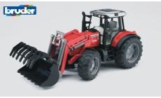 Bruder 02042 - Massey Ferguson 7480 Traktor mit Frontlader