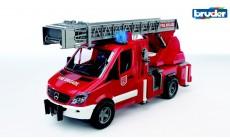 Bruder 02532 - Mercedes Benz Sprinter Feuerwehr mit Drehleiter, Wasserpumpe