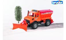 Bruder 02572 - MB-Unimog Winterdienst mit Räumschild