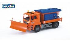 Bruder 02767 - MAN Winterdienst LKW mit Räumschild