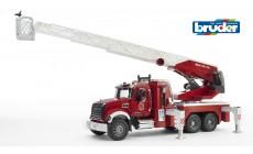 Bruder 02821 - MACK Granite Feuerwehrleiterwagen mit Wasserpumpe