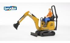Bruder bworld 62002 - JCB Mikrobagger 8010 CTS und Bauarbeiter