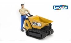 Bruder bworld 62004 - JCB Dumpster HTD-5 und Bauarbeiter